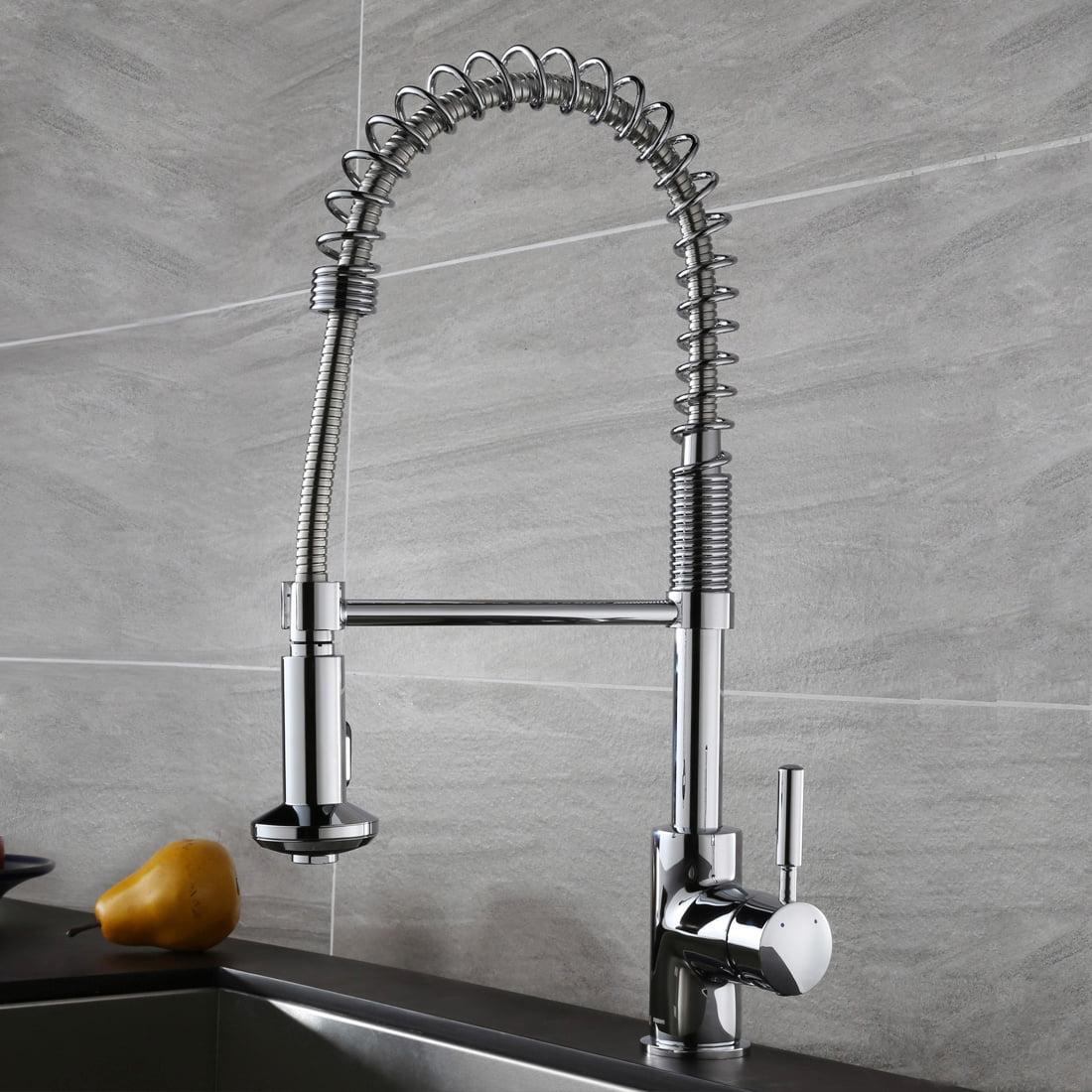 Keewi Kitchen Coil Faucet Chrome Commercial Kitchen Faucet Pull