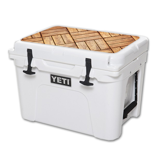 MightySkins Protective Vinyl Skin Decal for YETI Tundra 35 qt Cooler Lid wrap cover sticker skins Parquet