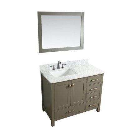 Ari Kitchen Bath Bella 42 Single Bathroom Vanity Set