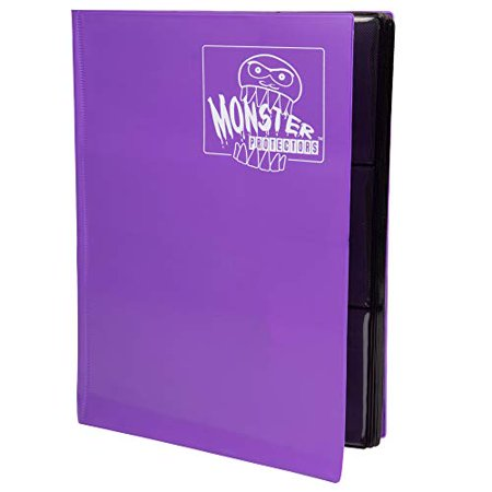 Monster Binder - 9 Pocket Trading Card Album - Matte Purple (Anti-theft Pockets Hold 360+ Yugioh Pokemon Magic the Gathering Cards) - image 1 of 4
