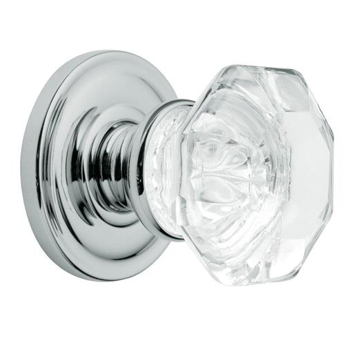 Baldwin 5080.260.IDM Filmore Polished Chrome Half-Dummy Crystal Knob