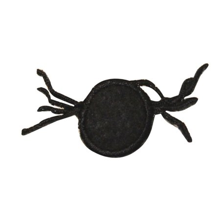 ID 0922 Black Spider Symbol Patch Halloween Emblem Embroidered Iron On Applique - Type Halloween Symbols
