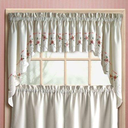 United curtain rachael kitchen valance - Kitchen curtains walmart ...