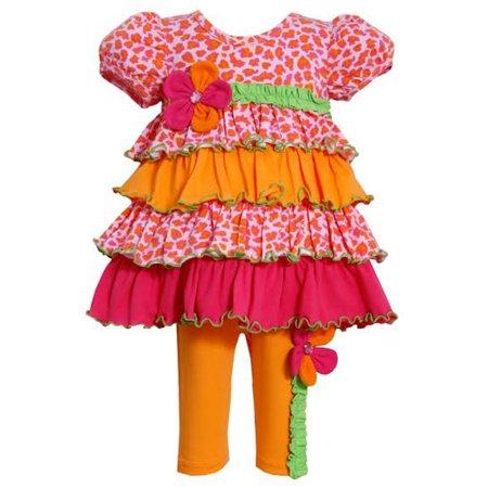 Bonnie Jean Bright Tiered Flower Applique Legging Set CLEARANCE FINAL SALE 12 - Halloween Clearance Sales