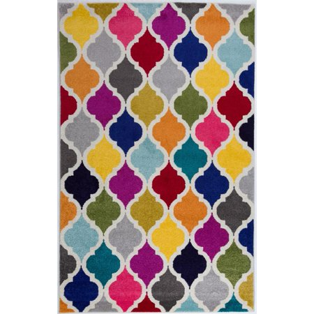 Antep Rugs Rainbow Collection Kimberley Daimond Colorful
