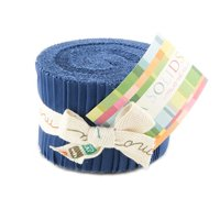 Bella Solids Admiral Blue Jr Jelly Roll by Moda House Designer