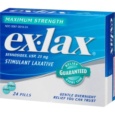 Ex Lax Maximum Strength Stimulant Laxative Relief 24