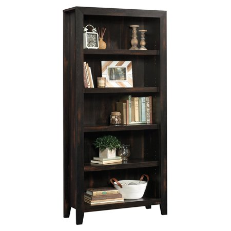Sauder Dakota Pass 5-Shelf Bookcase, Char Pine Finish