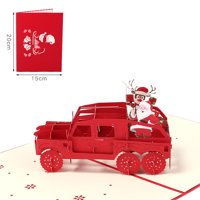 Details about 3D Pop Up Card Christmas Greeting Baby Gift Holiday Happy New