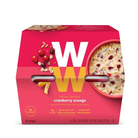Weight Watchers Cranberry Orange Oatmeal (4 individual