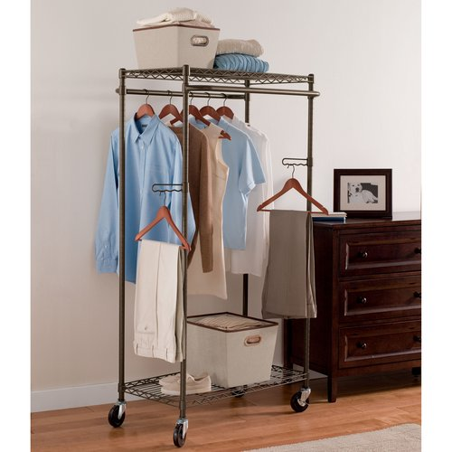 Better Homes and Gardens Double Hanging Garment Rack, Bronze