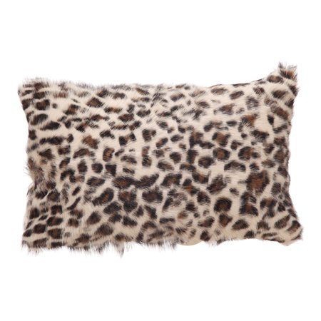Leopard Finish - Moe's Home Goat Fur Bolster Spotted Leopard With Brown Finish XU-1022-03