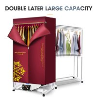 Portable Ventless Laundry Clothes Dryer Heater 1500W 110-240V Electric Indoors Fast Air Dry Hot Drying Machine with Heater for Home & Dorms