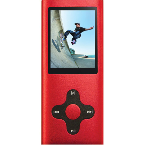 "Eclipse 180PRO 4GB 1.8"" MP3 + Video Player, Red"