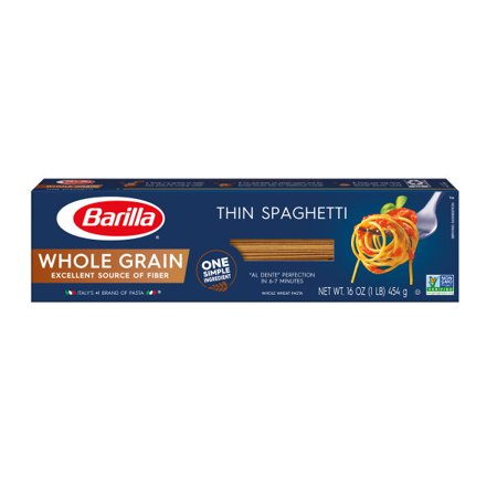 - (4 pack) Barilla Pasta Whole Grain Thin Spaghetti, 16.0 oz