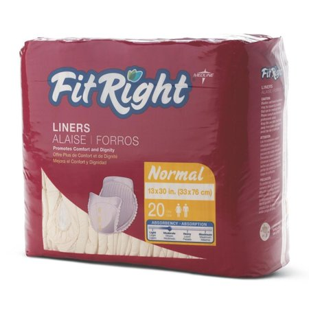 Medline FitRight 13 x 30-inch Normal Liners (Pack of 80) ()