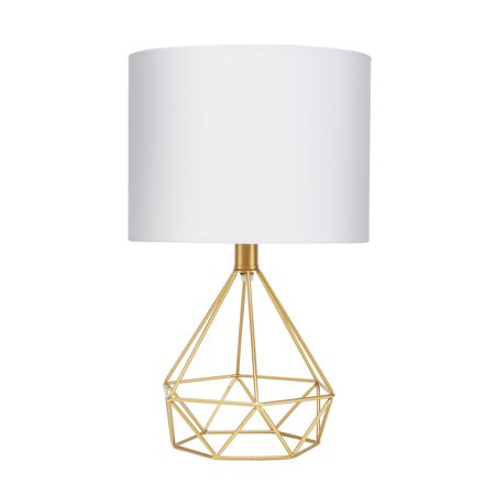 "- Celeste 16"" Wire Prism Table Lamp, Gold"