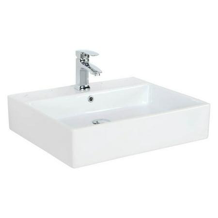 WS Bath Collections Simple 60.50A Wall Mount Vessel Bathroom