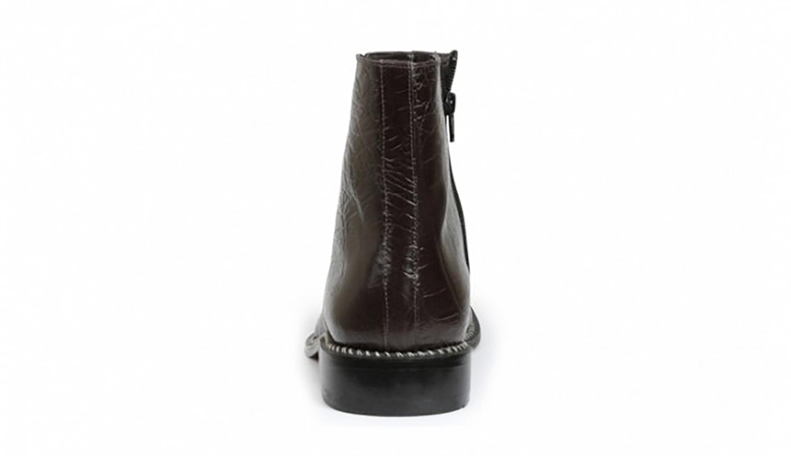 918ddbe88ed Giorgio Brutini CANTO Mens Black Leather Hornback Print Dress Ankle Boots  (7.5 US)