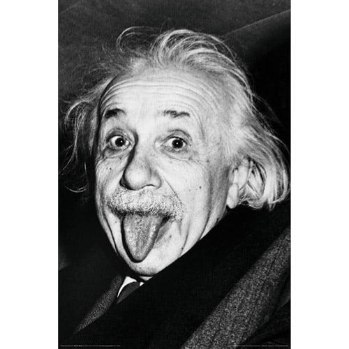 Albert Einstein Tongue Poster