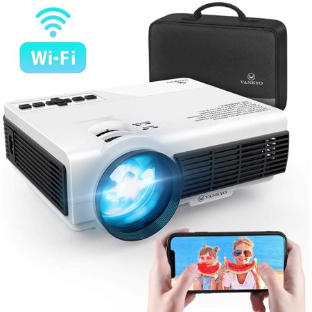VANKYO Leisure 3W Mini Projector with Synchronize Smartphone Screen,  Portable WiFi Projector Supports 1080P for iOS/Android Devices, Compatible with TV Stick, PS4, HDMI