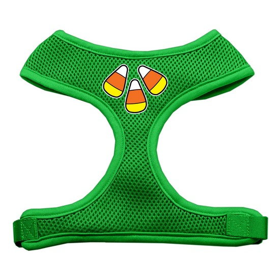 Candy Corn Design Soft Mesh Harnesses Emerald Green Medium