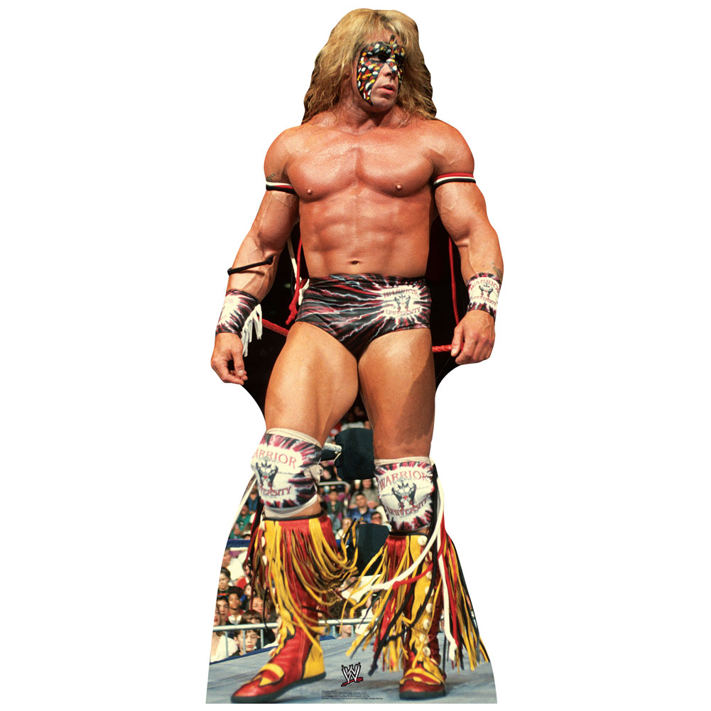 Official Wwe Authentic Ultimate Warrior Standee Life-Sized Cutout