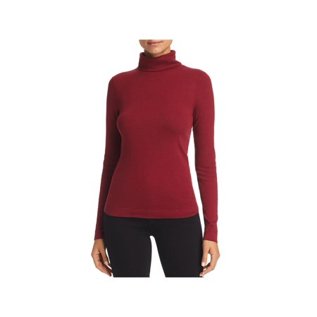 Three Dots Womens Cotton Solid Turtleneck Top