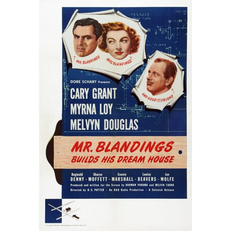 Mr Blandings Builds His Dream House Us Poster Art From Left Cary Grant Myrna Loy Melvyn Douglas 1948 Movie Poster Masterprint