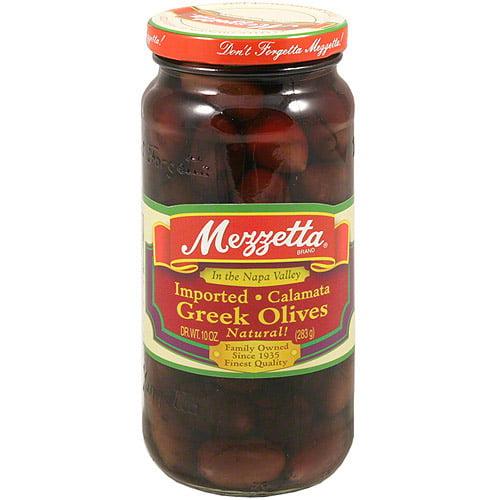 Mezzetta Whole Greek Kalamata Olives, 10 oz (Pack of 6)