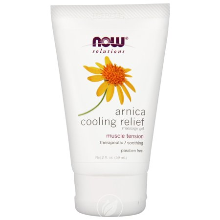 Now Foods - Solutions, Arnica Cooling Relief Massage Gel, 2 fl oz (59 ml), Pack of 2