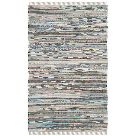 Hand Woven Rag Rugs (Safavieh Rag Robynne Striped Area Rug or Runner )