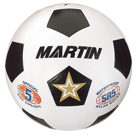 SOCCER BALL WHITE SIZE 5 RUBBER NYLON WOUND - Molded Nylon Wound Rubber