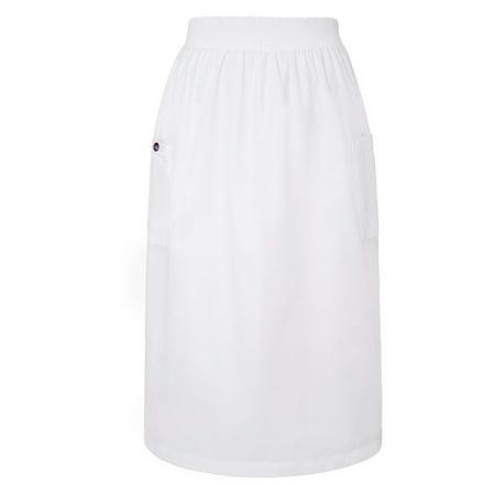 Sivvan A-Line Women's Elastic Waist Scrub Skirt / Two Patch Cargo Pockets A-line Elastic Waist Skirt