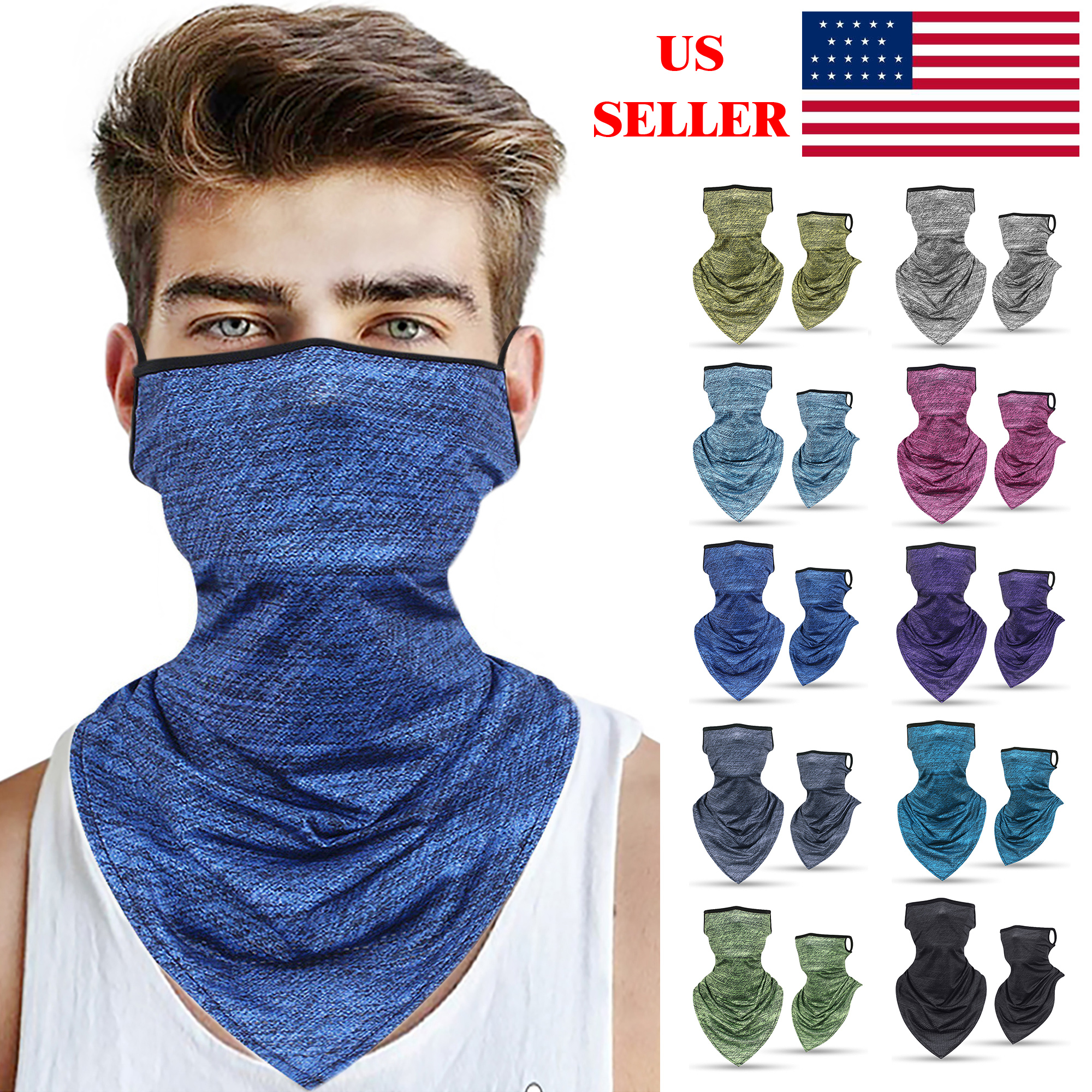 Details about  /Breathable Headband Scarf Head Face Neck Gaiter Face Balaclava Scarf US ST0CK