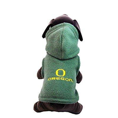 ncaa oregon ducks polar fleece hooded dog jacket, xx-large