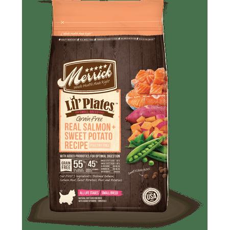 Merrick Lil' Plates Grain-Free Real Salmon & Sweet Potato Dry Dog Food, 20 Lb ()