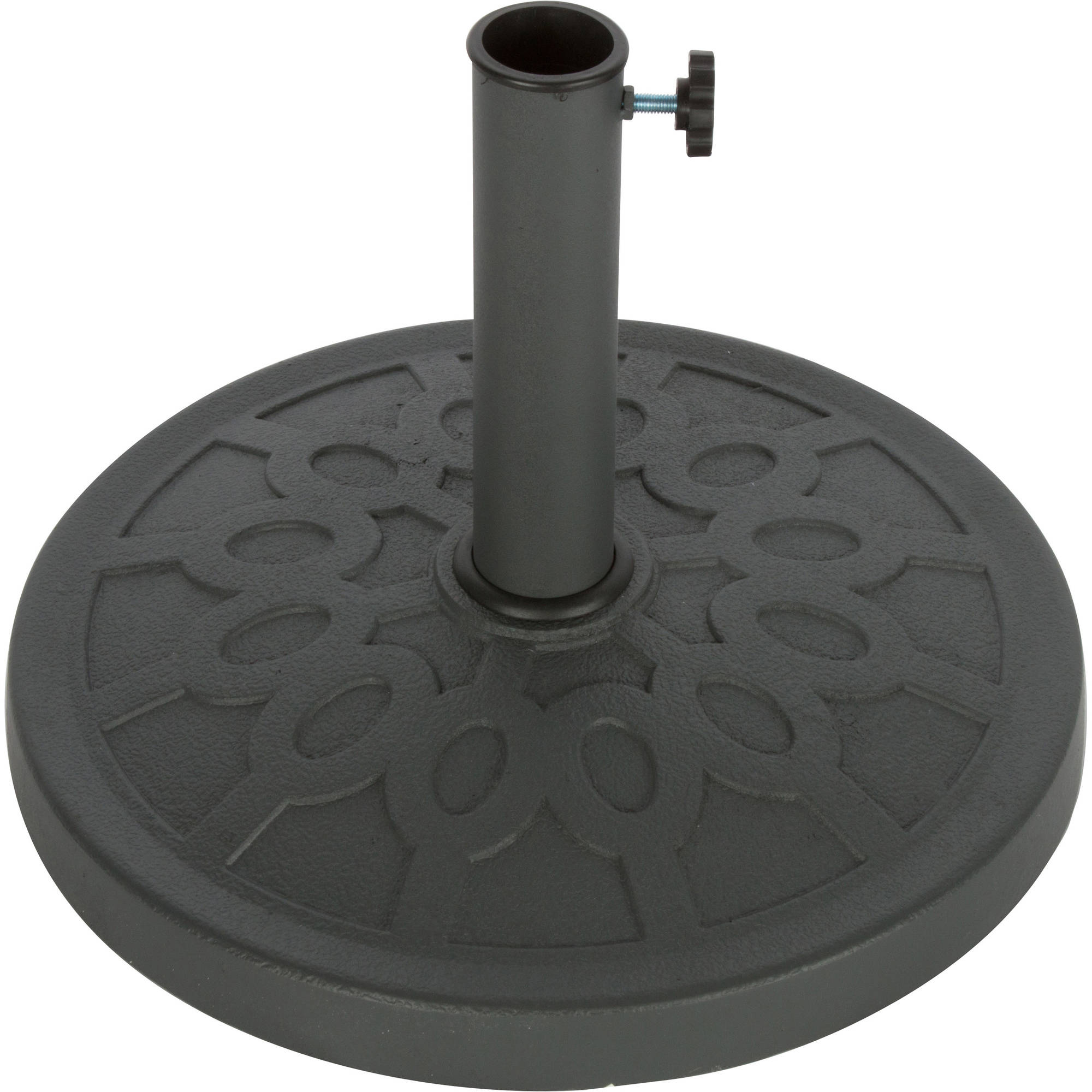 """Trademark Innovations Decorative Resin Umbrella Base, 17.5"""" Diameter"""