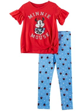 Disney Minnie Mouse Toddler Girls Polka Dot Leggings Set