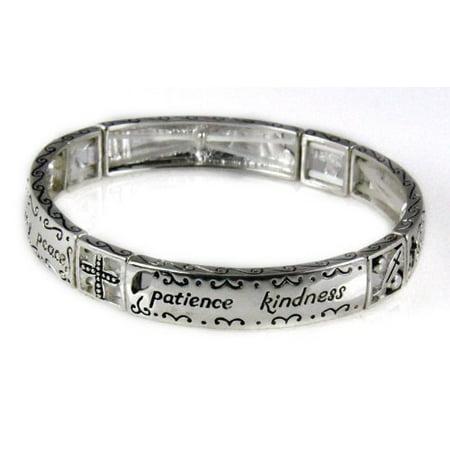 Galatians 5:22 Fruits of the Spirit Stretch Bracelet Love Joy Peace Christian -