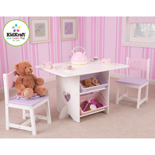 KidKraft - Heart Table and Chair Set