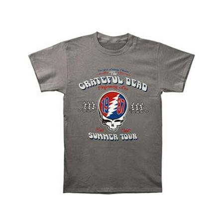 Grateful Dead Men's  Summer Tour 87 T-shirt Grey - Grateful Dead Happy Halloween