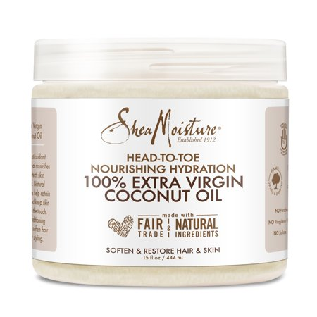 SheaMoisture 100% Xtra-Virgin Coconut Oil 15 Ounce Head-To-Toe, 15