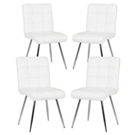 Remarkable Poly And Bark Petras Vegan Leather Chair In White Set Of 4 Ibusinesslaw Wood Chair Design Ideas Ibusinesslaworg