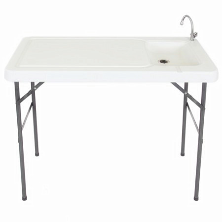 Etonnant Zimtown Folding Portable Fish Fillet Hunting Cutting Table With Sink Faucet  Outdoor Fish And Game Cleaning Table, Quick Connect Stainless Steel Sink ...
