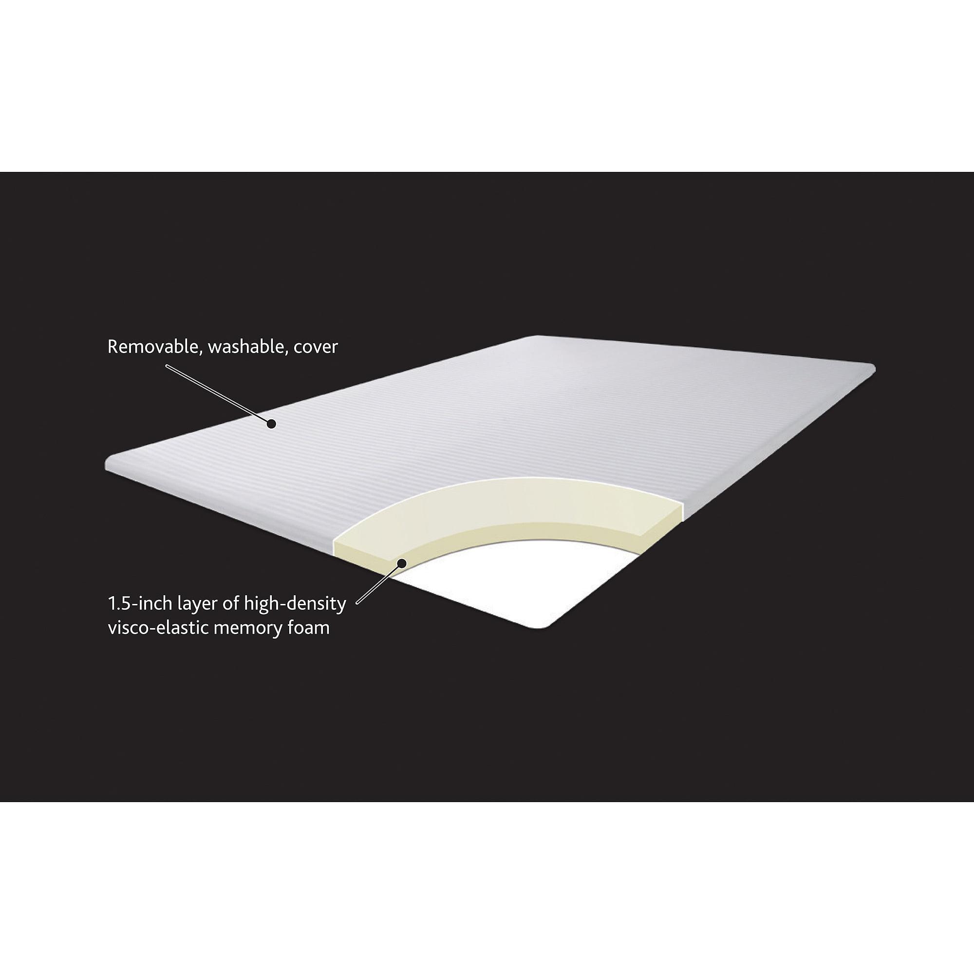 Canopy 1.5'' Hypoallergenic Memory Foam Mattress Topper, Twin