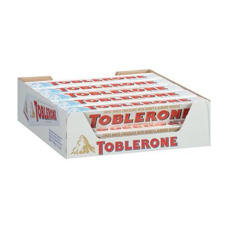 Toblerone White Chocolate, 3.52 Oz.