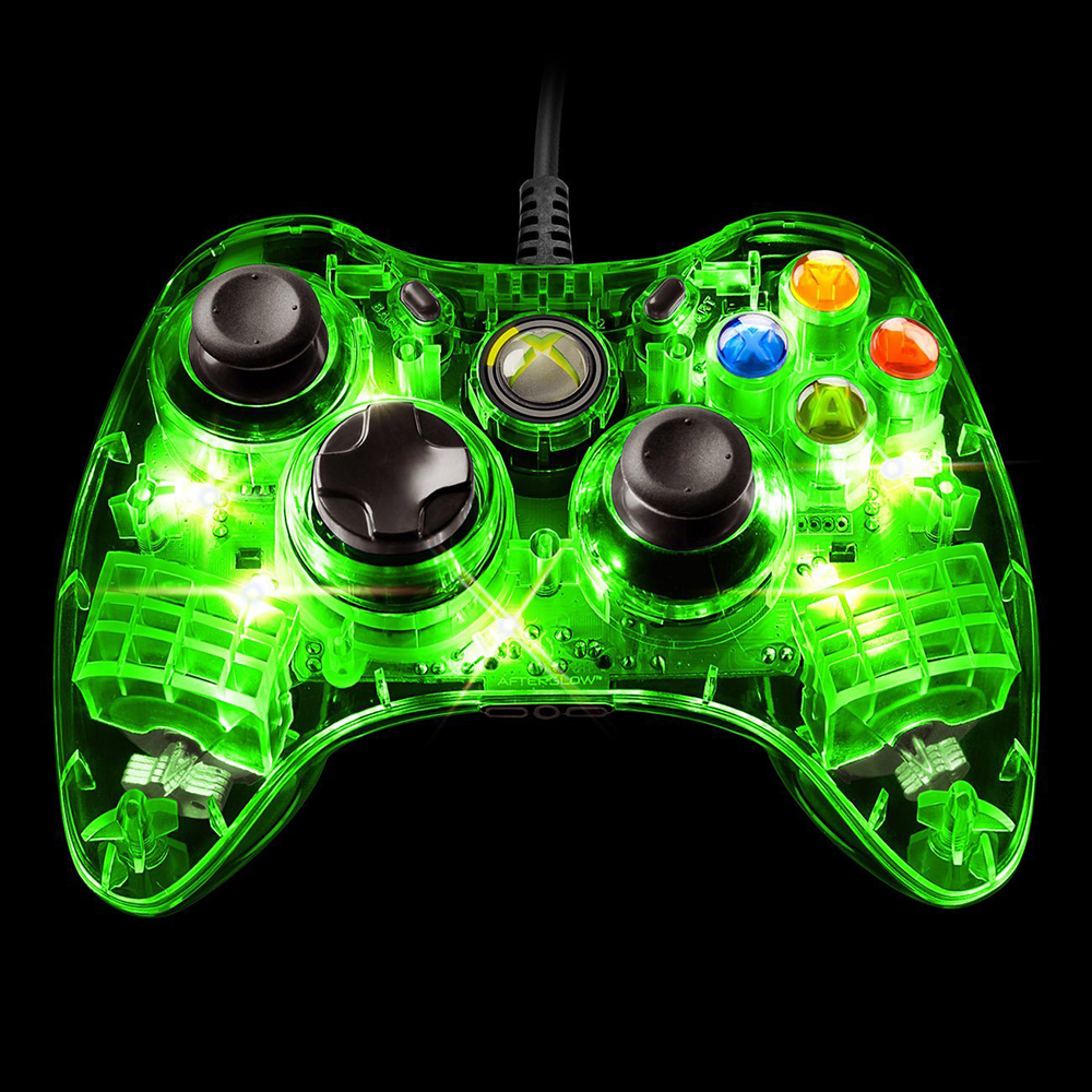 PDP Afterglow Wired Controller for Xbox 360, Green