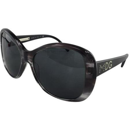 New Dolce & Gabbana DG 4108 1715/87 Grey Transparent Plastic Sunglasses (Dolce Gabanna Sunglasses)