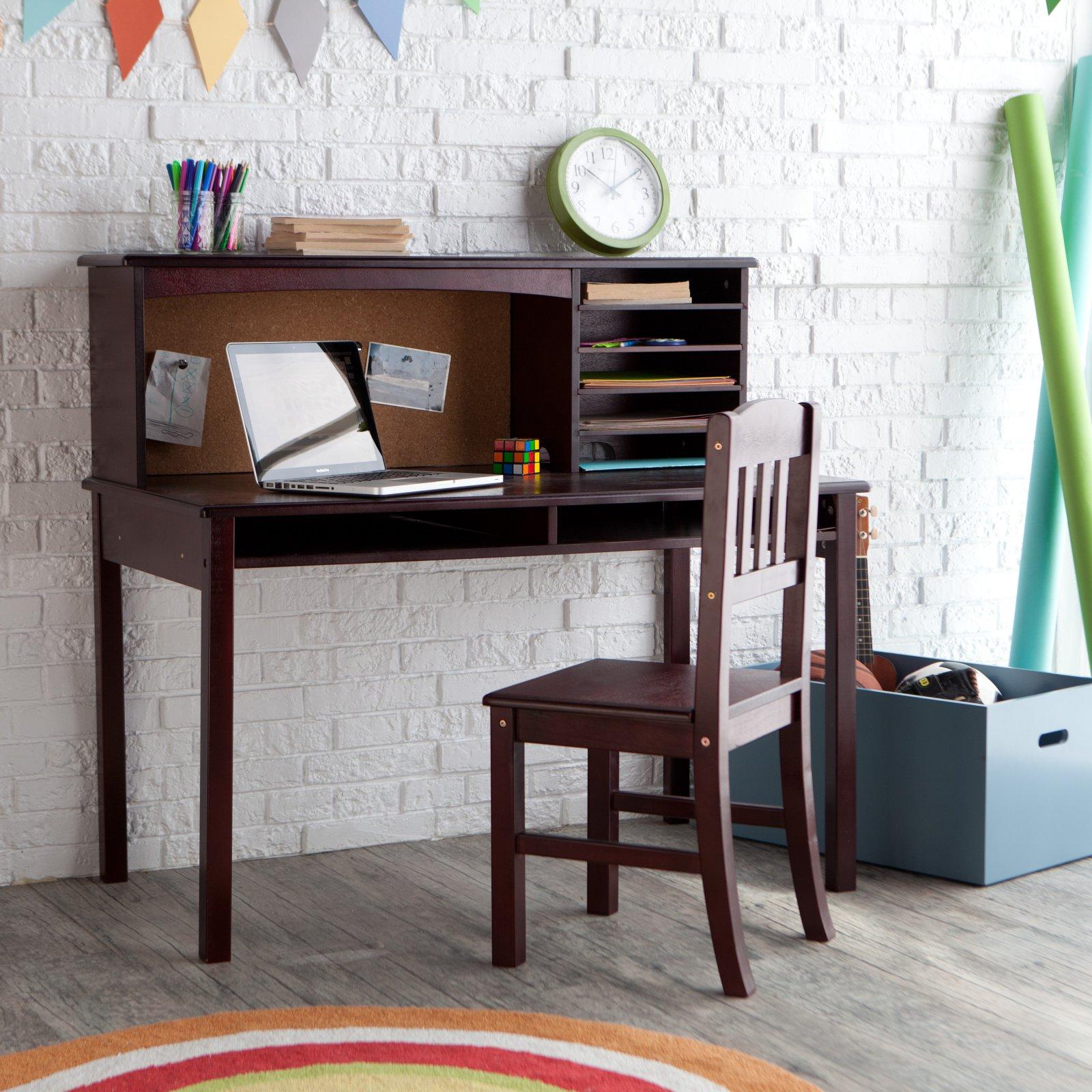 Guidecraft Media Desk & Chair Set - Espresso